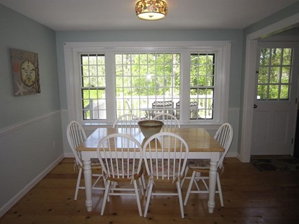 Brewster Cape Cod vacation rental - For those muggy nights - comfortable indoor dining area