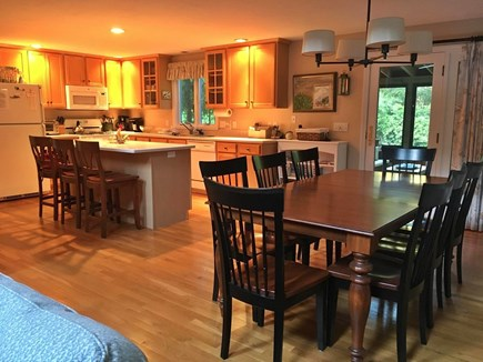 Orleans Cape Cod vacation rental - Kitchen/Dining Room with access to screened porch and deck