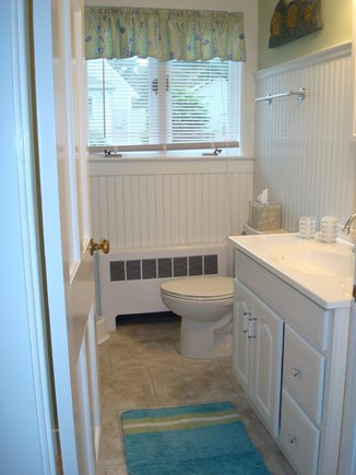 West Harwich Cape Cod vacation rental - Bathroom, with stacking, full-size washer & dryer and tub/shower