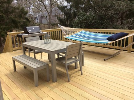 Harwich Cape Cod vacation rental - Deck with Hammock, Weber Grill, Outdoor Shower and Picnic Table