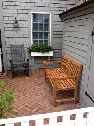 New Seabury, Mashpee New Seabury vacation rental - Front patio with new teak bench