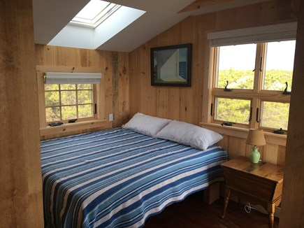 Wellfleet Cape Cod vacation rental - 1st & 2nd floor bedrooms with pillow top ocean views.