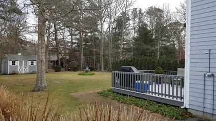 Mashpee, Popponesset Cape Cod vacation rental - Back yard and deck