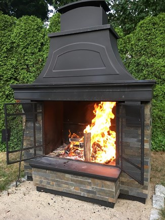 Falmouth Cape Cod vacation rental - Outdoor Fireplace