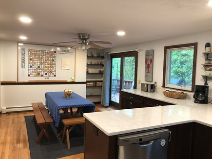 Harwich Cape Cod vacation rental - Newly renovated kitchen with custom wall-mounted Scrabble board