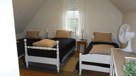 Dennis Cape Cod vacation rental - Third Floor Bunk Room with 4 twins beds and bath.