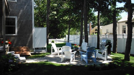 Dennis Cape Cod vacation rental - Backyard Patio, Hammock & Outdoor Shower
