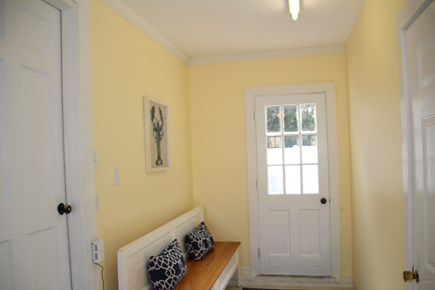 Orleans Cape Cod vacation rental - Great back hall and outside entrance to outdoor shower.