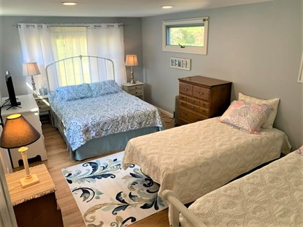 Orleans Cape Cod vacation rental - Wonderful big bedroom with patio access.