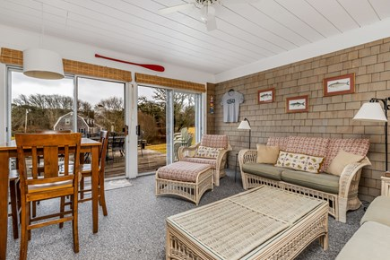Orleans Cape Cod vacation rental - Wonderful sunroom with big sliders.