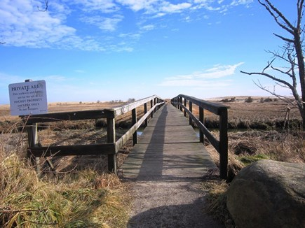Orleans Cape Cod vacation rental - Follow the Pochet bridge and board walk over the dunes.