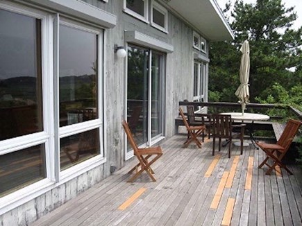 Wellfleet Cape Cod vacation rental - Back Deck with marsh and water views