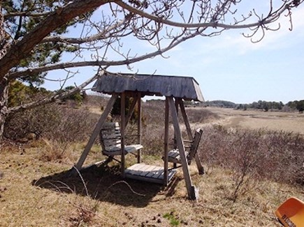 Wellfleet Cape Cod vacation rental - Little swinging area.  In the summer the marsh is all green