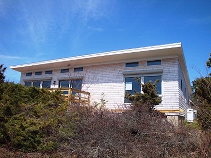 Wellfleet Cape Cod vacation rental - Looking up at house