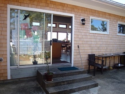 Wellfleet Cape Cod vacation rental - Patio entrance