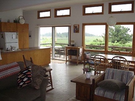 Wellfleet Cape Cod vacation rental - Great views from the dining table