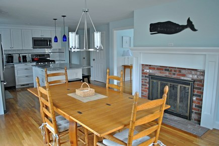 Osterville Osterville vacation rental - Dining room with sliders to patio and backyard