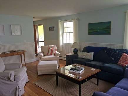 Osterville Osterville vacation rental - Roomy, comfortable living room with TV mounted over fireplace