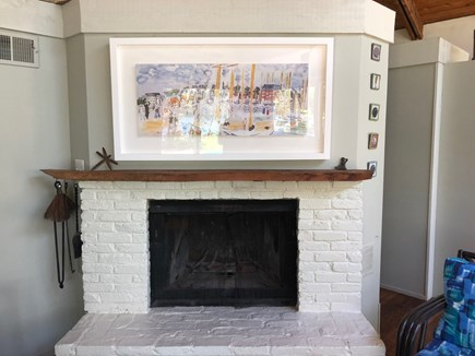 Truro Cape Cod vacation rental - Beautiful Fireplace