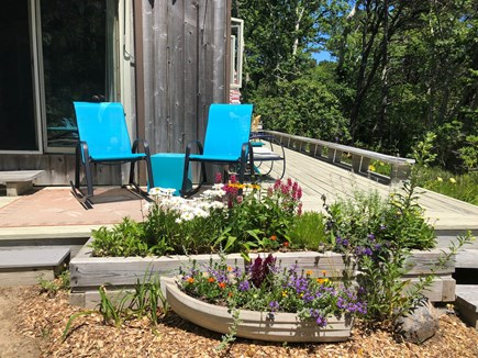 Truro Cape Cod vacation rental - Little nooks of garden delight
