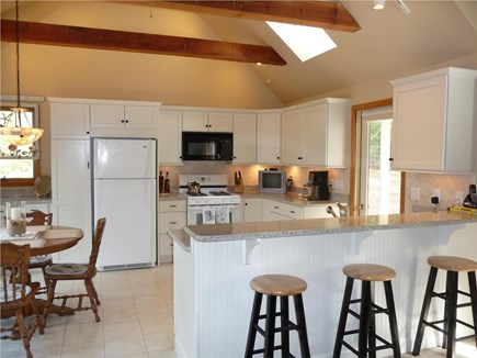 Eastham Cape Cod vacation rental - Well equipped designer kitchen with granite and VIEW!