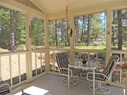 Eastham Cape Cod vacation rental - Enjoy your morning coffee on the screened porch