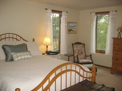 Eastham Cape Cod vacation rental - Private Master bedroom looks out at salt marsh and bay