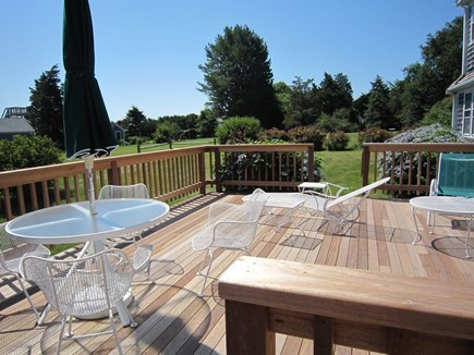 Orleans Cape Cod vacation rental - Beautiful new deck with ocean views.