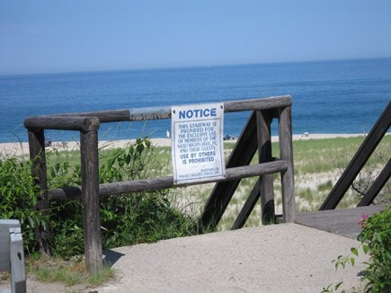 Orleans Cape Cod vacation rental - Beach stairs for Nauset Height residents.
