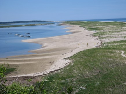 Orleans Cape Cod vacation rental - Inner beach from beach stairs.