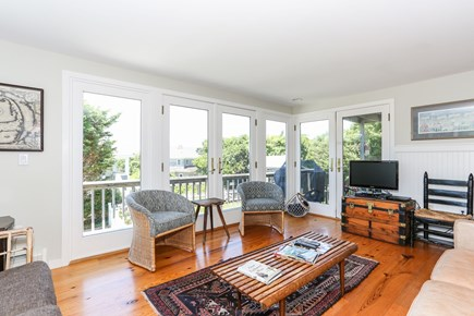 Orleans Cape Cod vacation rental - Bright and sunny living room.