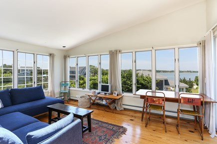 Orleans Cape Cod vacation rental - Second floor family room with water view.