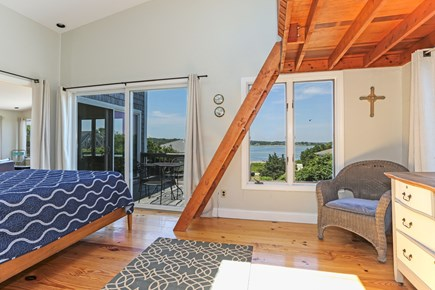 Orleans Cape Cod vacation rental - Master on 2nd floor with queen bed, loft, deck with water views.