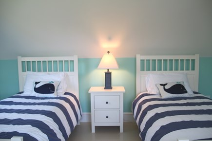 Orleans Cape Cod vacation rental - Third bedroom with 2 twins, connects to playroom.