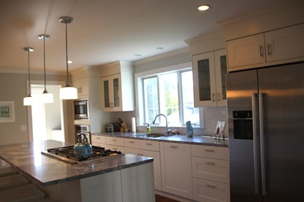 Orleans Cape Cod vacation rental - Immaculate state of the art kitchen with island and pantry.