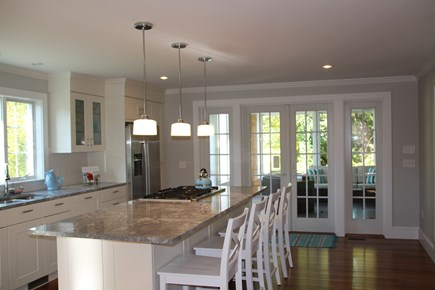 Orleans Cape Cod vacation rental - Beautiful gourmet kitchen opening to screen porch.