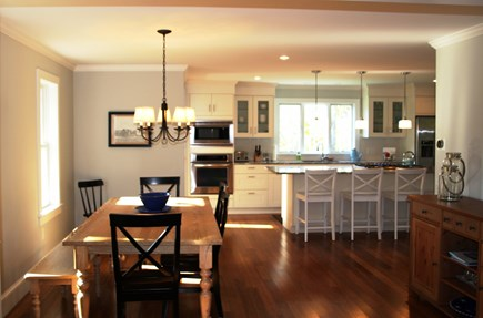 Orleans Cape Cod vacation rental - Bright and cheery dining room and island.