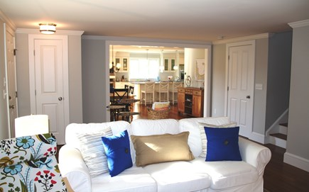 Orleans Cape Cod vacation rental - Living room looking toward kitchen/dining area.