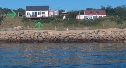 Eastham Cape Cod vacation rental - Cottage(on left) has 2 BRs plus a loft & direct access to the Bay