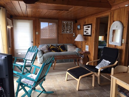 Eastham Cape Cod vacation rental - Living room w/ccess to the deck & stunning views over the Bay
