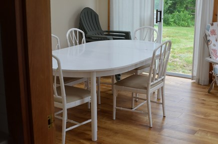 Dennis, North 6A, Bay Beaches! Cape Cod vacation rental - Dining back sun porch, 4 sliders, open for fresh sea salt air!