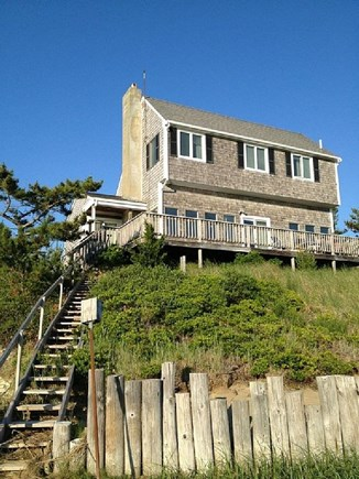Eastham Cape Cod vacation rental - Water Side of House with Stairs to Tidal Creek