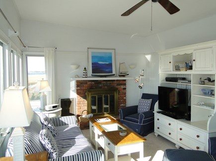 Eastham Cape Cod vacation rental - Smart TV in Living Room with books, games, videos and DVD player.
