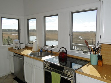 Eastham Cape Cod vacation rental - Kitchen with Views of Marsh and Bay at Every Window