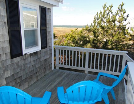 Eastham Cape Cod vacation rental - Front of house deck, great afternoon shade