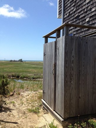 Eastham Cape Cod vacation rental - Outdoor shower with hot and cold water.