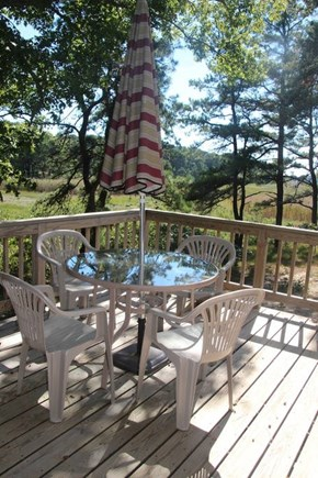 Wellfleet Cape Cod vacation rental - Deck off the front of the house