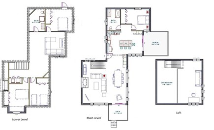 Wellfleet Cape Cod vacation rental - Ruby's Point floor plan