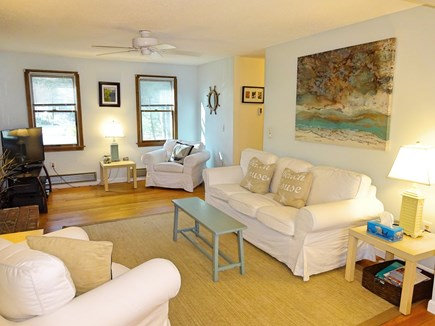 Brewster Cape Cod vacation rental - Open and spacious living area with flat screen tv and bose stereo