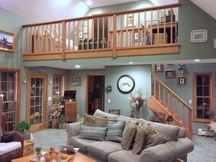 North Eastham Cape Cod vacation rental - Living area to balcony